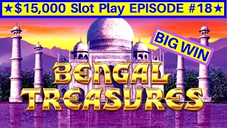 Lightning Link Bengal Treasures Slot Machine HUGE WIN | EPISODE-18 | Live Slot Play w/NG Slot