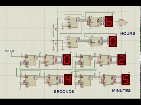 Digital Clock Based On 74ls90 Simulation Youtube