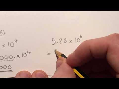 Changing Values in Scientific Notation Back Into Large Numbers