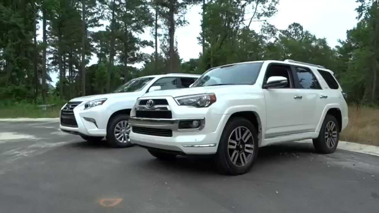 2015 lexus gx vs toyota 4runner limited youtube