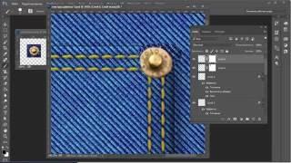 Рисуем карман на джинсовой текстуре
