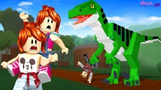 ROBLOX-DINOSAUR WANTS TO CATCH US! (Dinosaur Hunter)