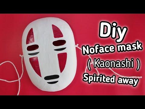 สอนทำหน ากาก No Face Kaonashi จาก อน เมะเร อง Spirited Away Diy Kaonashi Noface Mask Youtube