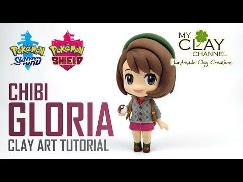 Pokemon Sword and Shield Female Protagonist : Chibi Gloria - Clay Art Tutorial thumbnail