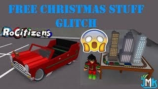ROBLOX | RoCitizens: HOW TO GET THE SLEIGHER CAR AND THE TRAIN TABLE (GLITCH) [NEW CHRISTMAS UPDATE]