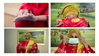 Dr Lalla Malika Issoufou montre comment bien se laver les mains