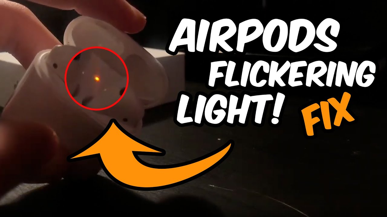 How To Fix Apple Airpods Blinking Red Light Issue Serry Youtube
