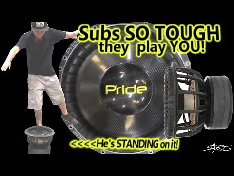 Russian Subwoofer So Tough it Plays YOU - Pride Car Audio S5 Carbon Fiber 15""