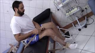 Dos quebrados tornozelos vasos sanguíneos dentro