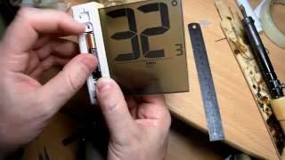 Ремонт оконного термометра (угольного шлейфа)