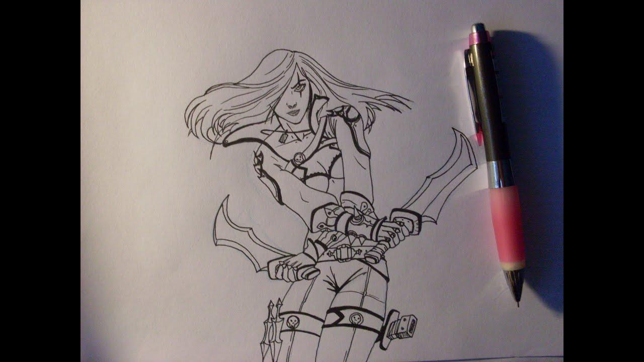 how i draw katarina manga style speedraw youtube