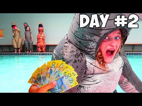 LAST TO LEAVE THE DINOSAUR SUIT WINS $1000 | Mr Beast Kids Style with Norris Nuts
