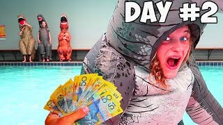 LAST TO LEAVE THE DINOSAUR SUIT WINS $1000 | Mr Beast Kids' Style with Norris Nuts