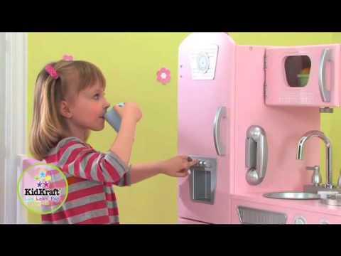 Cucina vintage in rosa kidkraft 53179 for Mattonelle finte per cucina