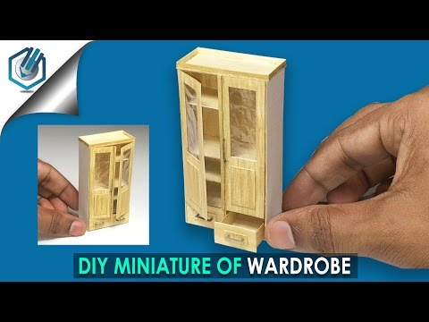 DIY miniature Wardrobe tutorial (made with Watercolor paper!)