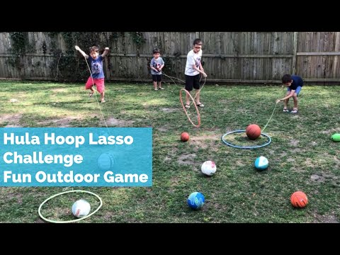 Outdoor Summer Kids Game   Hula Hoop Lasso Challenge   Kids Summer Activity Outdoor Game
