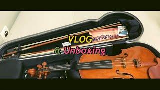 브이로그 : 8년만에 바이올린 고급취미, 언박싱, 인생…