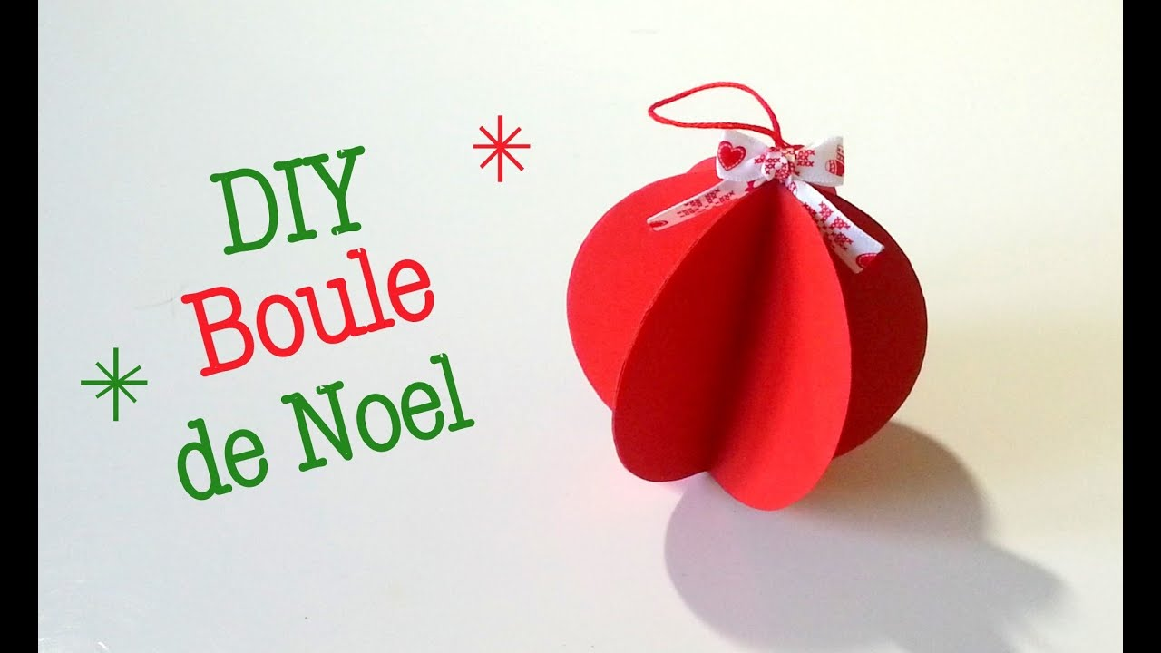 diy boule de noel en papier youtube. Black Bedroom Furniture Sets. Home Design Ideas