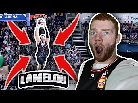 i-sat-courtside-for-lamelo-ball's-best-game!!-he-dunked!-(vlog)