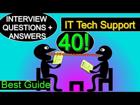 40 IT Tech Support Interview Question And Answers, Sys Admin + Light Networking
