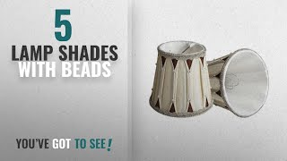 Top 10 Lamp Shades With Beads [2018 ]: Splink 2pcs E14/E12 Clip-On Lace Lamp Shades Vintage Handmade