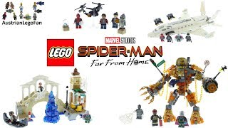 Lego Spider-Man Far From Home Compilation of all Sets - Lego Speed Build Review