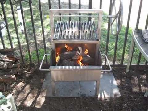 Stainless Steel Mini Argentine V Grate Santa Maria Style Grill