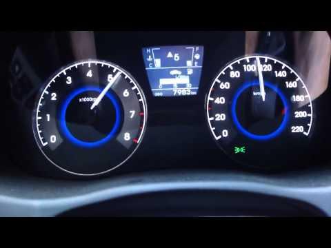 Hyundai Solaris 1.6 разгон с 0 100 kmh