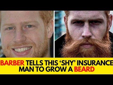 Barber Tells Insurance Man To Grow A Beard