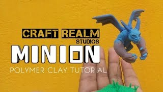 "MINION !! | HOW TO MAKE CLASH OF CLANS , CLASH ROYAL ""MINION"" USING POLYMER CLAY"