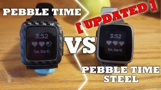 Pebble Time Steel vs Pebble Time