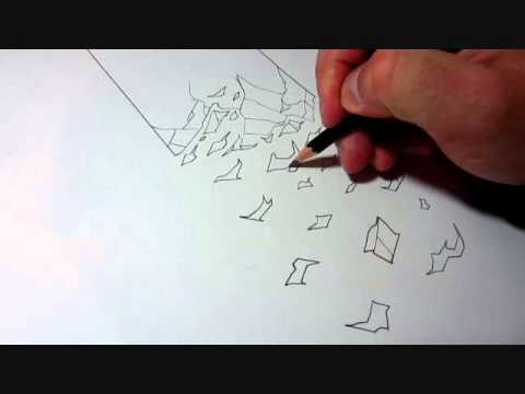 Crumbling how to draw crumbling wall effect - youtube