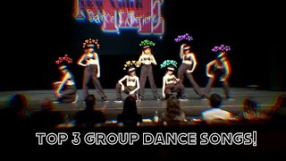 top 3 group dance songs from each season! | dance moms