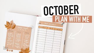 Bullet Journal OCTOBER PLAN WITH ME 2020 | halloween spreads and habit tracker