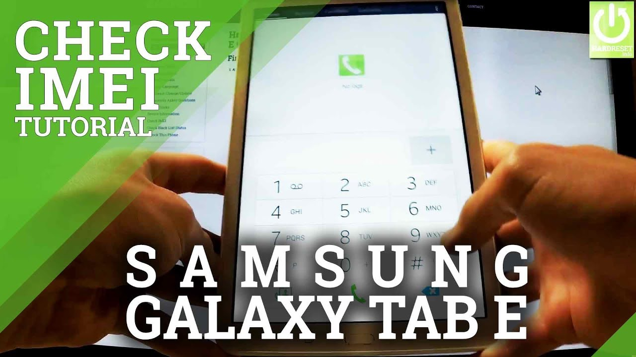 How to Check IMEI in SAMSUNG T561 Galaxy Tab E 9 6