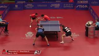 Скачков / Сидоренко vs Xu Xin / Fan Zhendong | Swedish Open 2019 (1/4)