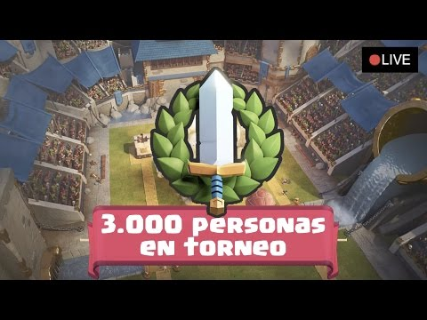 ¡¡EPIC TORNEO CON 3.000 PERSONAS EN DIRECTO!!! | Clash Royale con TheAlvaro845 | Español