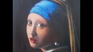 Speed Oil Painting of Johannes Vermeer