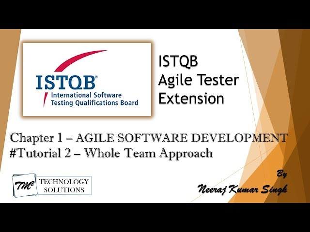 ISTQB Agile Tester Extension | 1.1.2 Whole Team Approach