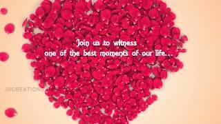 Srinivasan weds Vishnu Priya - SV2411 - Madras Race Club - WeddingInvite | JScreationsORG