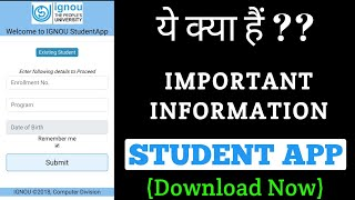 IGNOU official Student Mobile Application full information By TIPS GURU