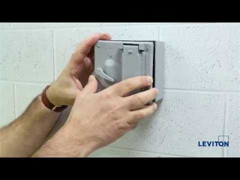 How to Install a Leviton 2-Gang Weatherproof Cover