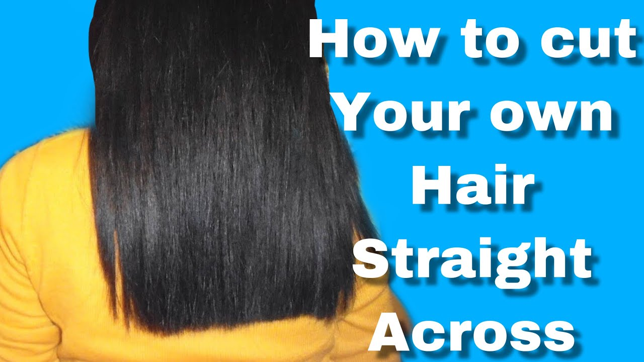 How to CUT your own HAIR 𝗦𝗧𝗥𝗔𝗜𝗚𝗛𝗧 𝗮𝗰𝗿𝗼𝘀𝘀 𝘿𝙄𝙔