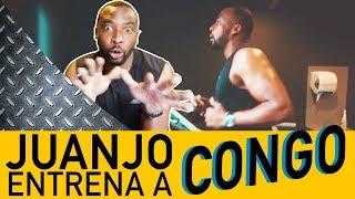 DURO ENTRENAMIENTO de Edwin Congo con Juanjo Martín en el gimnasio