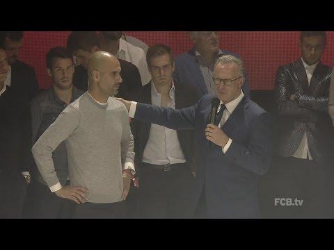 FC Bayern Meisterfeier 2015 im Postpalast: Rede von Karl-Heinz Rummenigge
