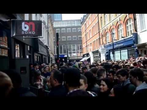crowd at BM Soho - Record Store Day 2014