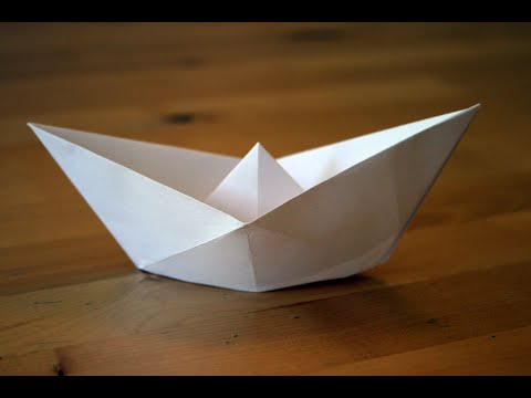 origami bateau traditionnel traditional paper boat. Black Bedroom Furniture Sets. Home Design Ideas