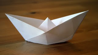 Origami - Bateau Traditionnel - Traditional Paper Boat
