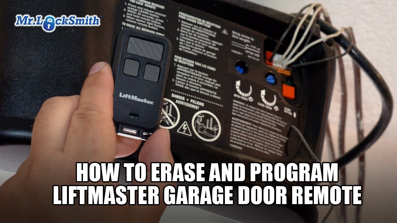 Liftmaster Garage Door Opener Programming >> How To Erase And Program Liftmaster Garage Door Remote 604 757 6557