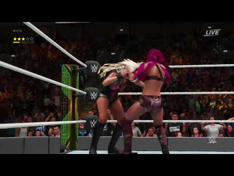 WWE 2K18 Sasha banks vs maryse